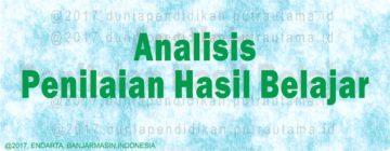 analisis penilaian hasil belajar