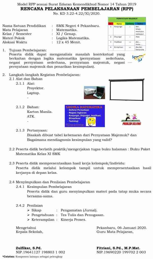 Rpp 1 Halaman Lembar Literasi Pedagogi Teknologi